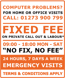 Computer Problems? Fixed Fee on Call Out and Labour Widget